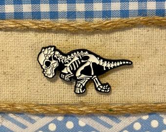 Pachycephalosaurus Soft Enamel Pin | Dinosaur Pin | Fossil Pin