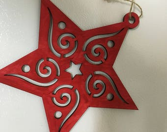 Red and green star