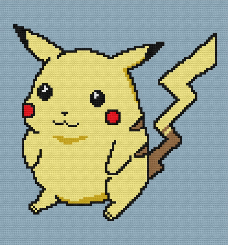 Pokemon Pikachu C2C Crochet Graph and Written Pattern