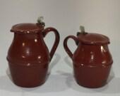 Enamelled pitcher vintage