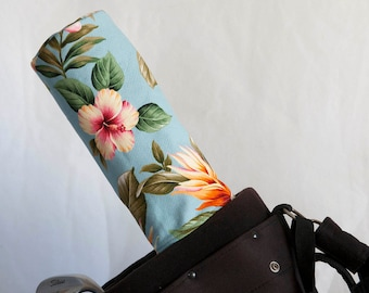 Golf Club Covers, Golf Head Covers, Golf Driver Head Cover, Golf Headcover, Golf Accessory, Blue Hawaiian Floral Golf Driver Headcover
