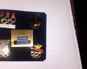 1992 usa Barcelona jc penny's Olympic pin set