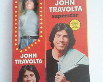 john travolta on  stage superstar doll mib 1977 made by chemtoy