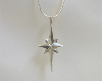 Silver 925 /& Gold Plating Pendant Of Blessed STAR OF BETHLEHEM With Zircons Gift