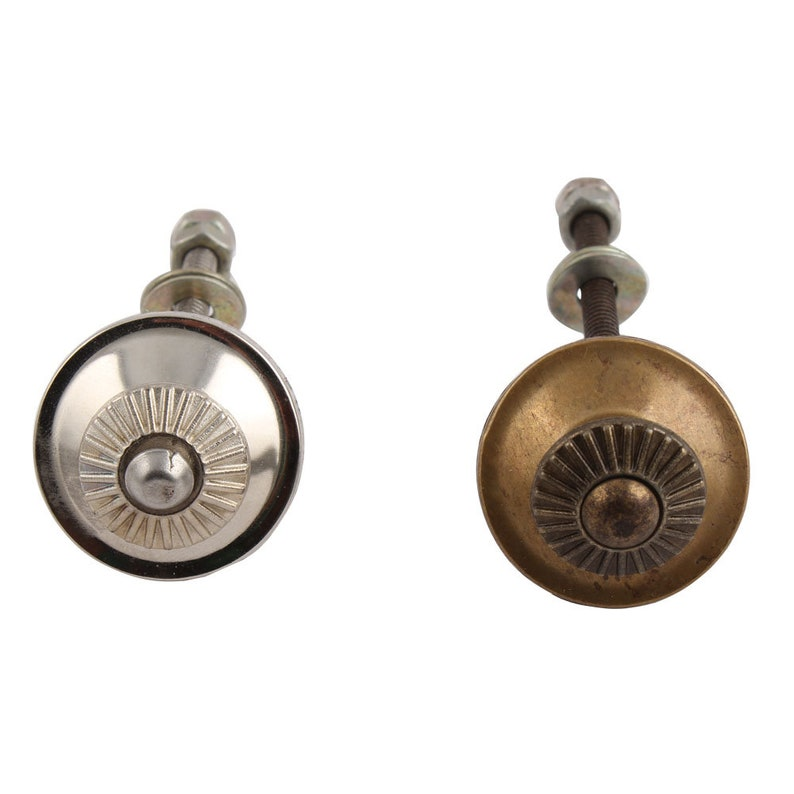 Pull Doors Cabinets Drawers for Cupboards Handle Ceramic Knob Fitting Brass or Silver Coloured Cupboard Knob Hardware Set for Knob