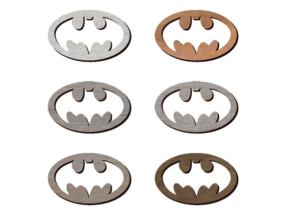 Laser Cutout 6 Pcs Batman Symbol Signal Cutout Style 1 Mdf Etsy