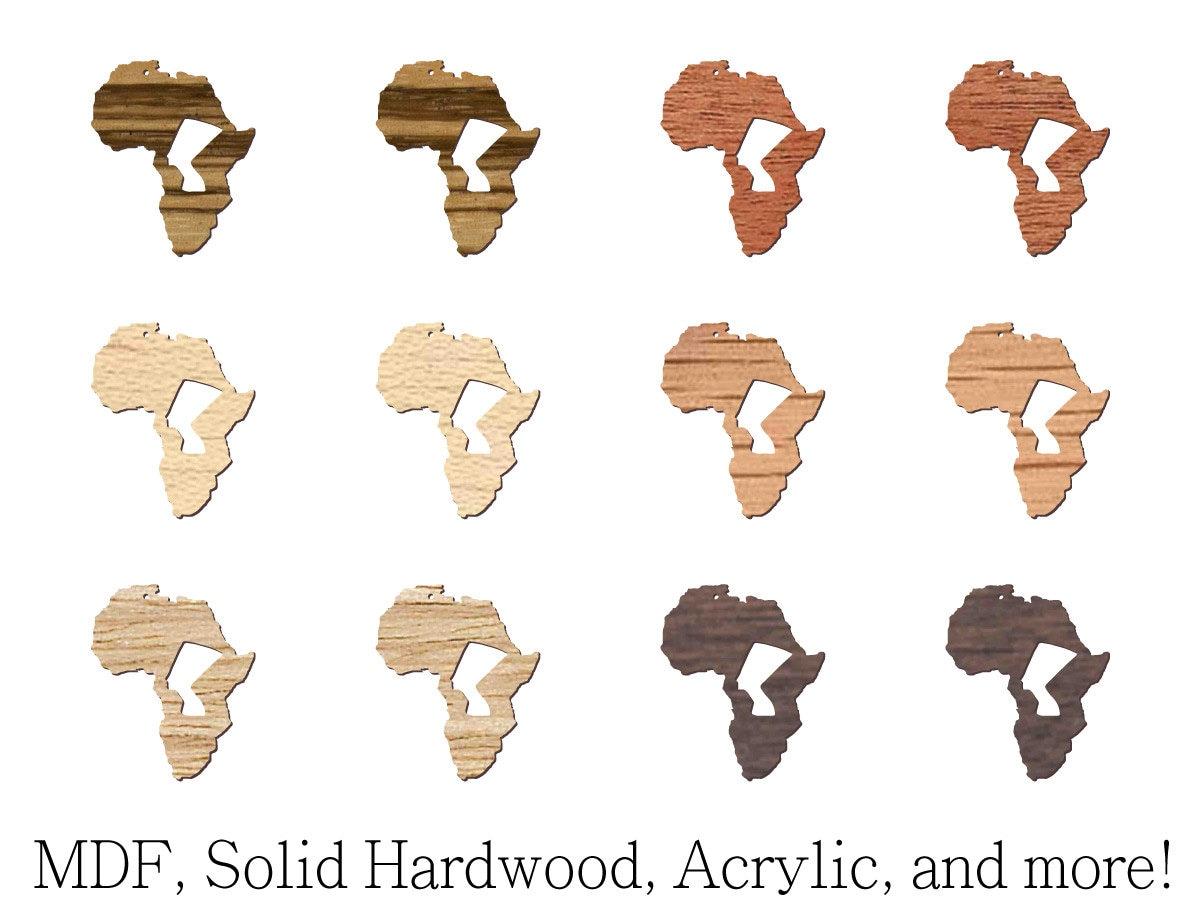 Laser Cutout 12 Pcs Nefertiti Knockout In Africa Shape Mdf