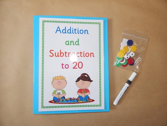 Lernen Ordner rechnen Addition und Subtraktion 0-10 0-20 | Etsy