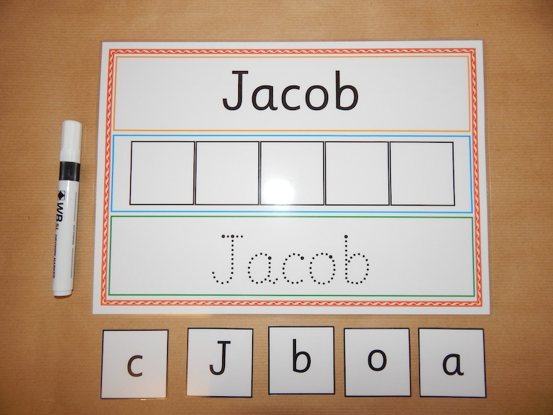 I Can Write And Spell My Name Personalised Card EYFS