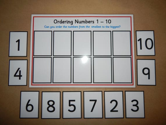 Number ordering game 0 10 numeracy number recognition etsy image 0 ibookread ePUb