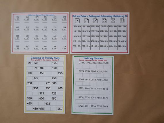 KS2 rechnen Bundle Jahr 3 Jahr 4 Mathematik lernen | Etsy