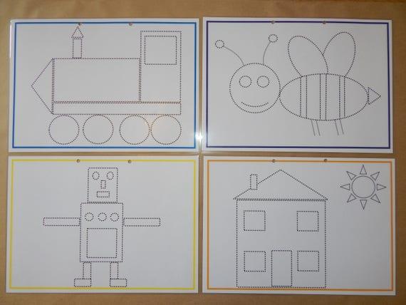 Lernen Ordner Tracing Buchstaben Alphabet Zahlen Namen   Etsy