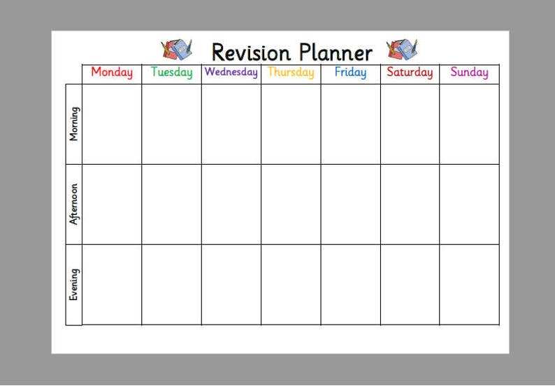 Awe Inspiring Exam Revision Planner Timetable A4 Laminated Planner Wipe Clean Exams Gcse Complete Home Design Collection Epsylindsey Bellcom