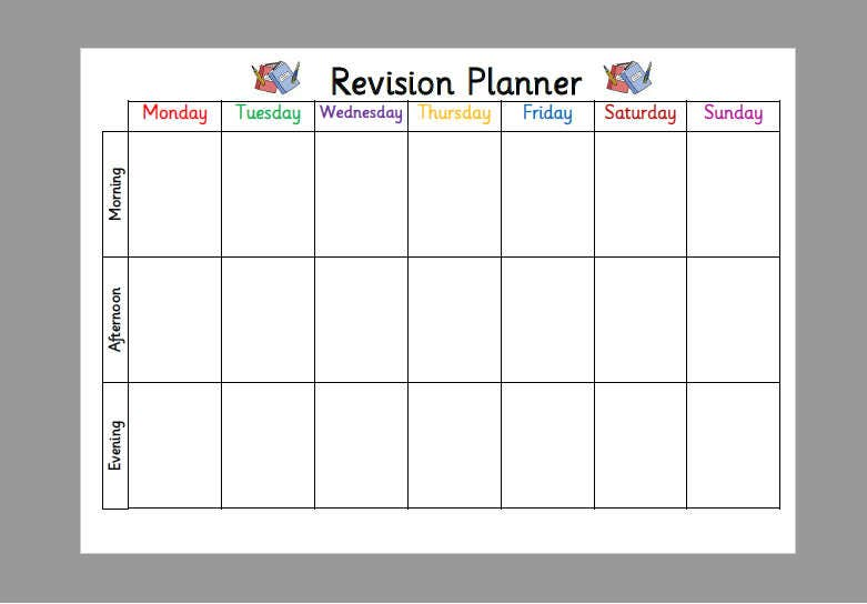Template Revision Timetable Choice Image Template Design