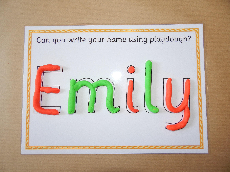 Salzteig Name Mat personalisierte Namenskarte A4-Format | Etsy