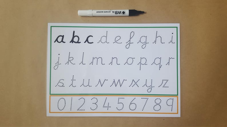 Tracing Letters, tracing numbers, pre cursive font, wipe Clean, reusable,  writing letters, formation mat, early learning, EYFS, home school