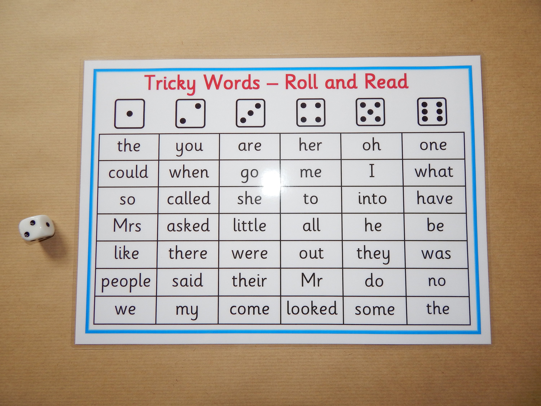 Schwierige Wörter Phasen 2-5 Rolle und lesen Spiel | Etsy