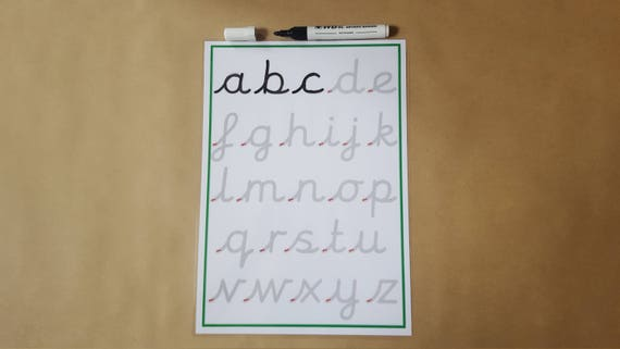 Rückverfolgung Pre Schreibschrift Praxis Matte Buchstaben   Etsy