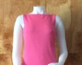 Vintage pink silver lurex dress 1960 s mod dress bow detail back drape sleeveless 1960 s fashion theater party dress mini dress