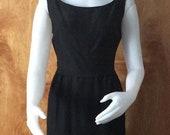 Vintage little black dress 1960 s size small sleeveless classic Audrey Hepburn style 1960 s theater fashion classic LBD vintage dress