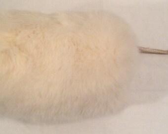 Dino Ricco Rabbit Fur Jacket Vintage Cream Color Zipper