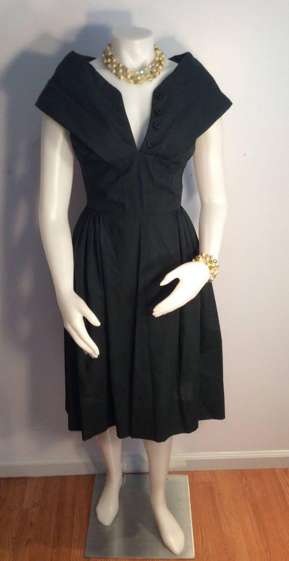 Youth Guild of N.Y. Dress vintage 1950's cotton da