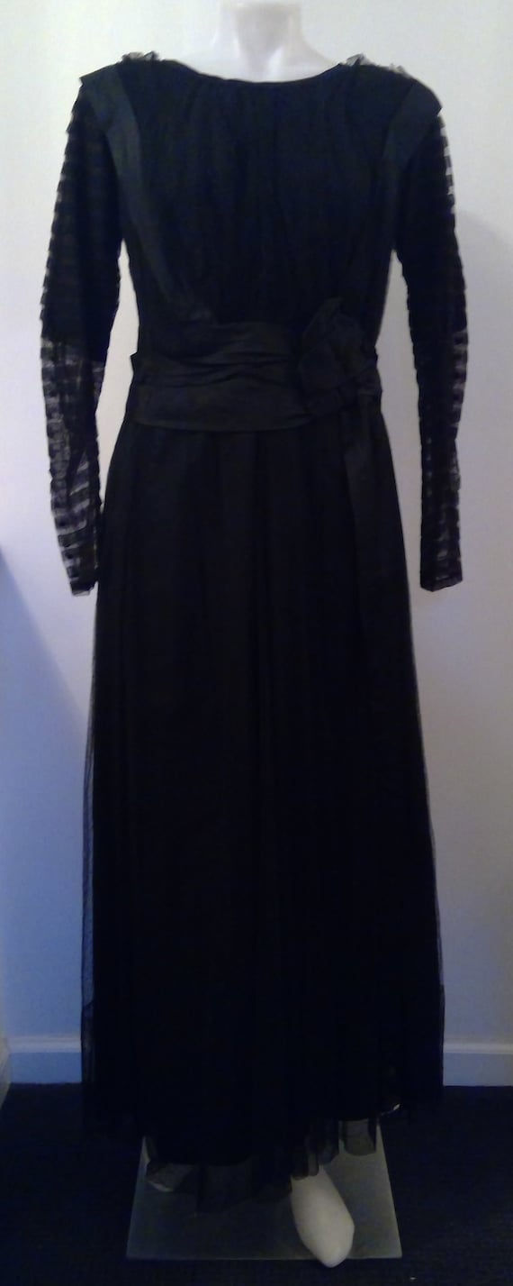 Edwardian gown black mesh mourning gown 1910 dotte