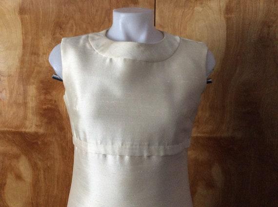 Vintage mod mini dress 1960's mod wedding dress c… - image 2