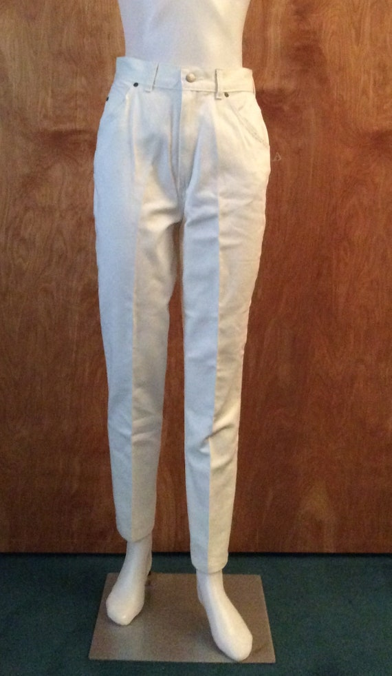 Vintage 1980's white jeans by DENIM REPUBLIC new o