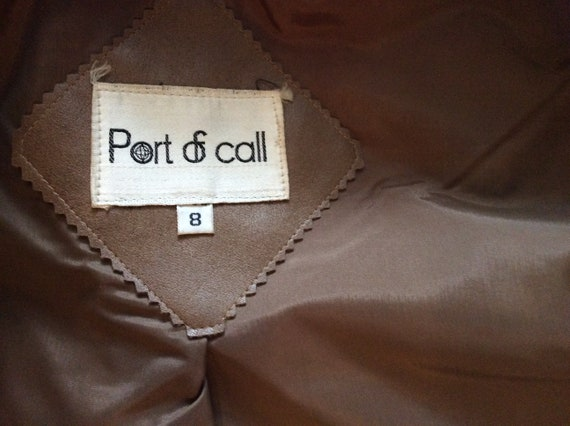 1970s vintage faux leather trench coat Port of Ca… - image 10