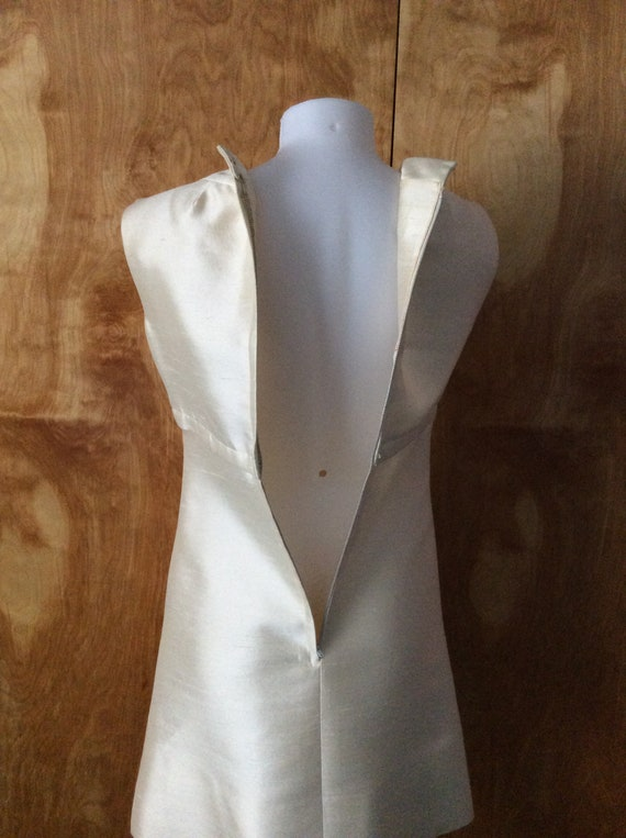 Vintage mod mini dress 1960's mod wedding dress c… - image 7