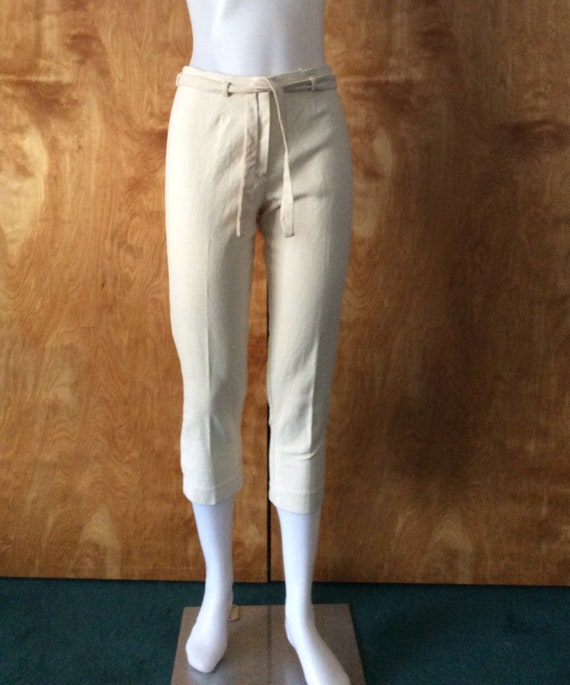 Vintage women's cigarette pants crop pants 1950s 1