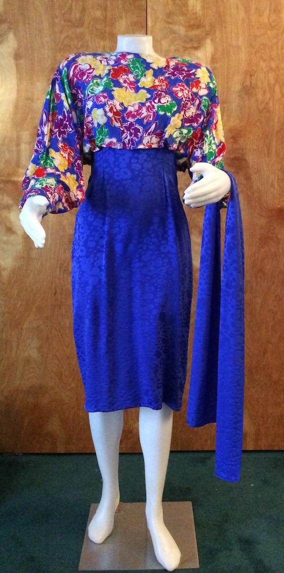 Vintage 1980's silk dress Francesca of DAMON FOR S
