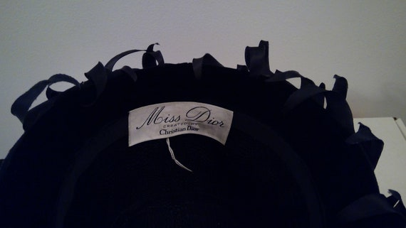 Miss Dior created by Christian Dior vintage hat 1… - image 3