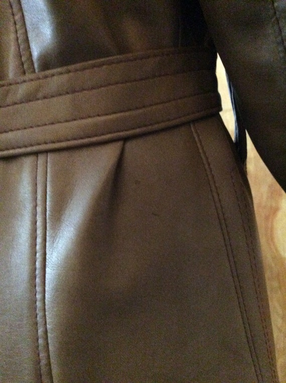 1970s vintage faux leather trench coat Port of Ca… - image 7