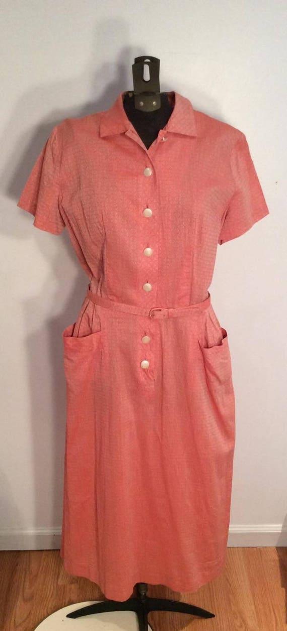 Modern Classics salmon pink vintage dress wiggle b