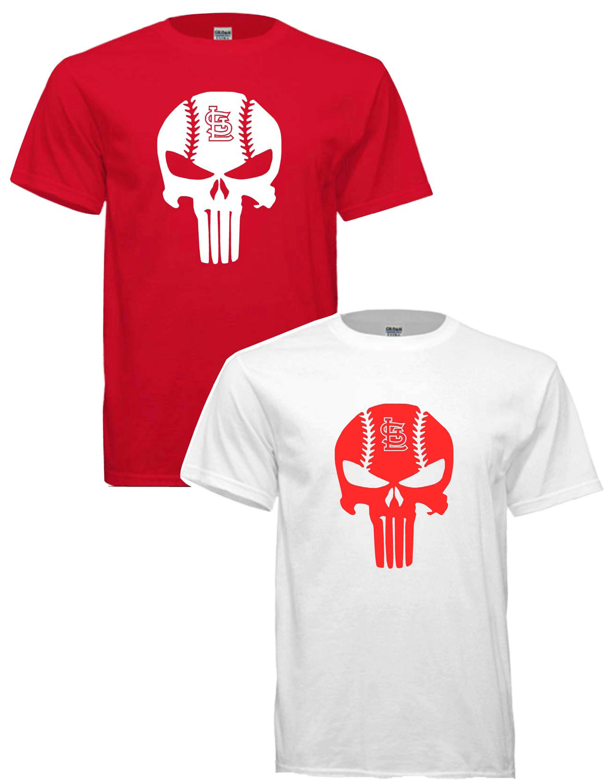 St Louis Cardinals Punisher Style Baseball T Shirt Free Etsy