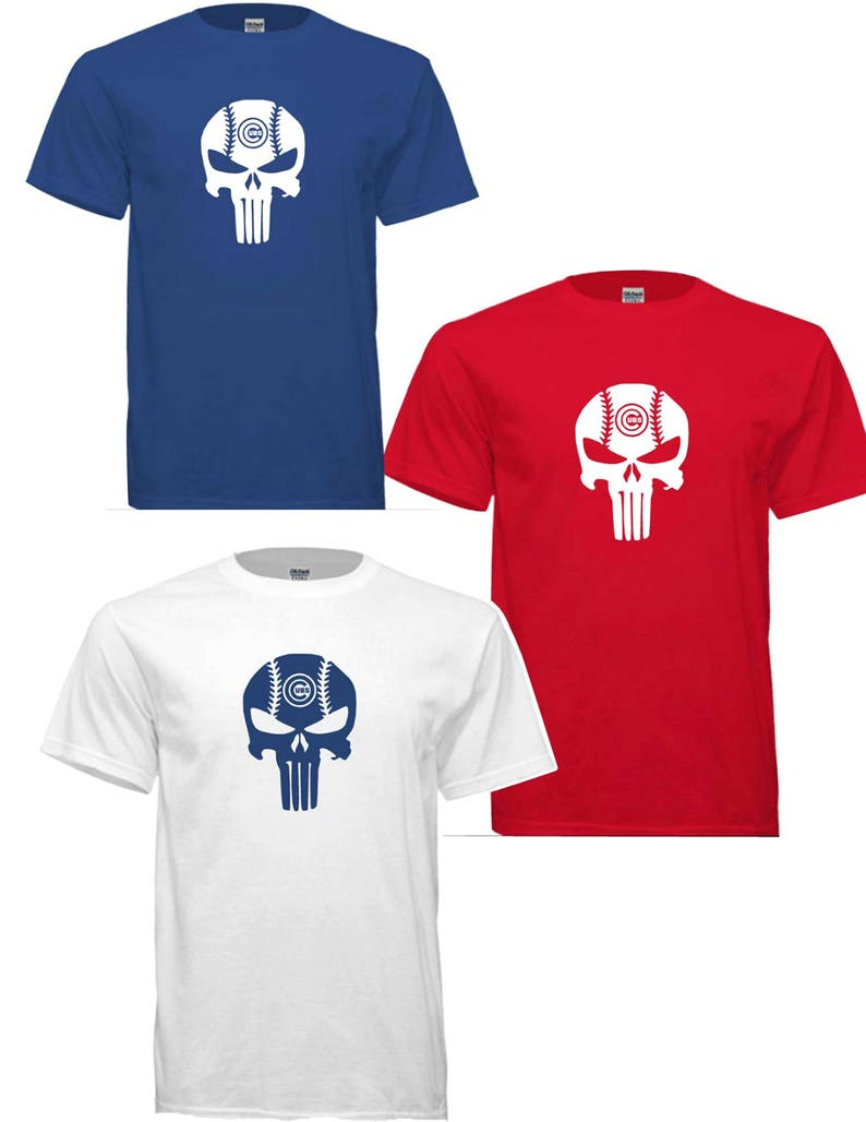 Cubs Punisher T-shirt !! free shipping