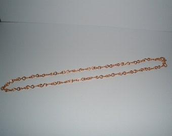 "handmade copper chain, 18"" delicate copper chain, Free UK Shipping"