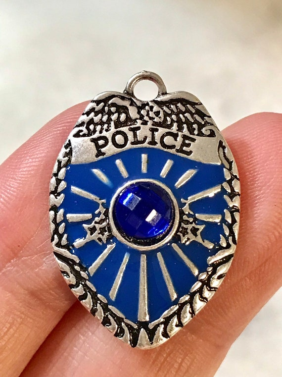 Silver Sheriff Star Badge Law Police Officer Charm Pendant