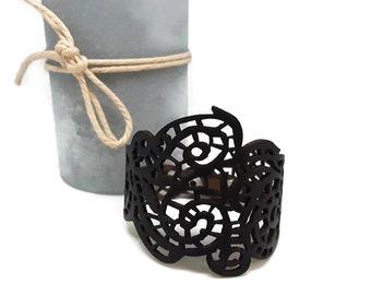 Black filigree bracelet