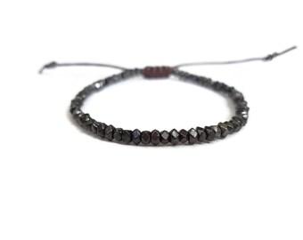 Vintage beads adjustable bracelet