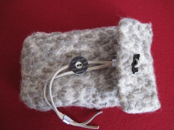 Clutch stricken filzenkleine Filztasche braunWolltasche | Etsy
