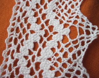 1.50 m lace lace 75 mm white, vintage