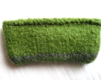 Mini bag knitted felted, zipper pouch, purse, zipper bag, wallet, coin bag, small felt bag