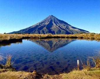 New Zealand Mirror Lake Symmetry Canvas Print