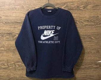 5a13831a Rare Nike sweatshirt/Big Print logo/Pullover jumper sweater/Size is Missing.