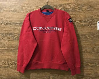 Sale... Rere Converse sweatshirt/Big embroidered logo spellout/ Rere design/Size Large