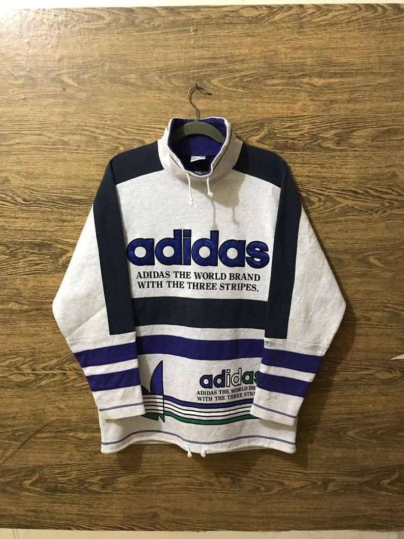 8b07906148031 Sale... Vintage Adidas x Descente Sweatshirt/Big Embroidery logo/Nice  Design/Size on Tag Large.