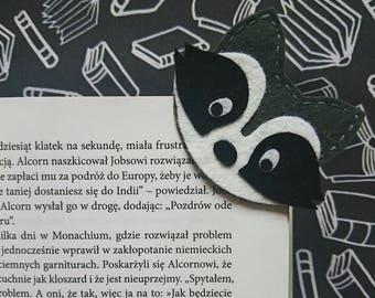 Corner Bookmark - Raccoon Small